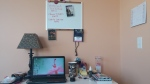 My newly organized desk area.
