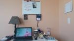 My newly organized desk area.